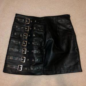 Dresses & Skirts - Black faux leather skirt